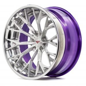 USF 04 - 3 Piece - Brushed Face - Polished Lip - Purple Barrel